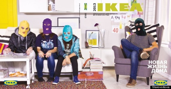 pussy riot ikea ad