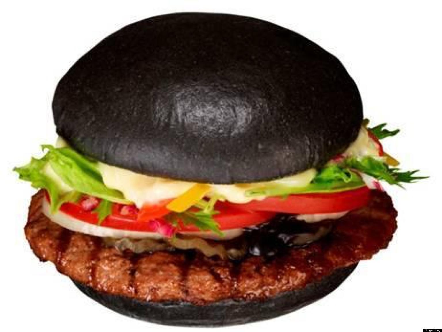 Burger King Japans Premium Kuro Burger Officially Makes Black - Black hamburger
