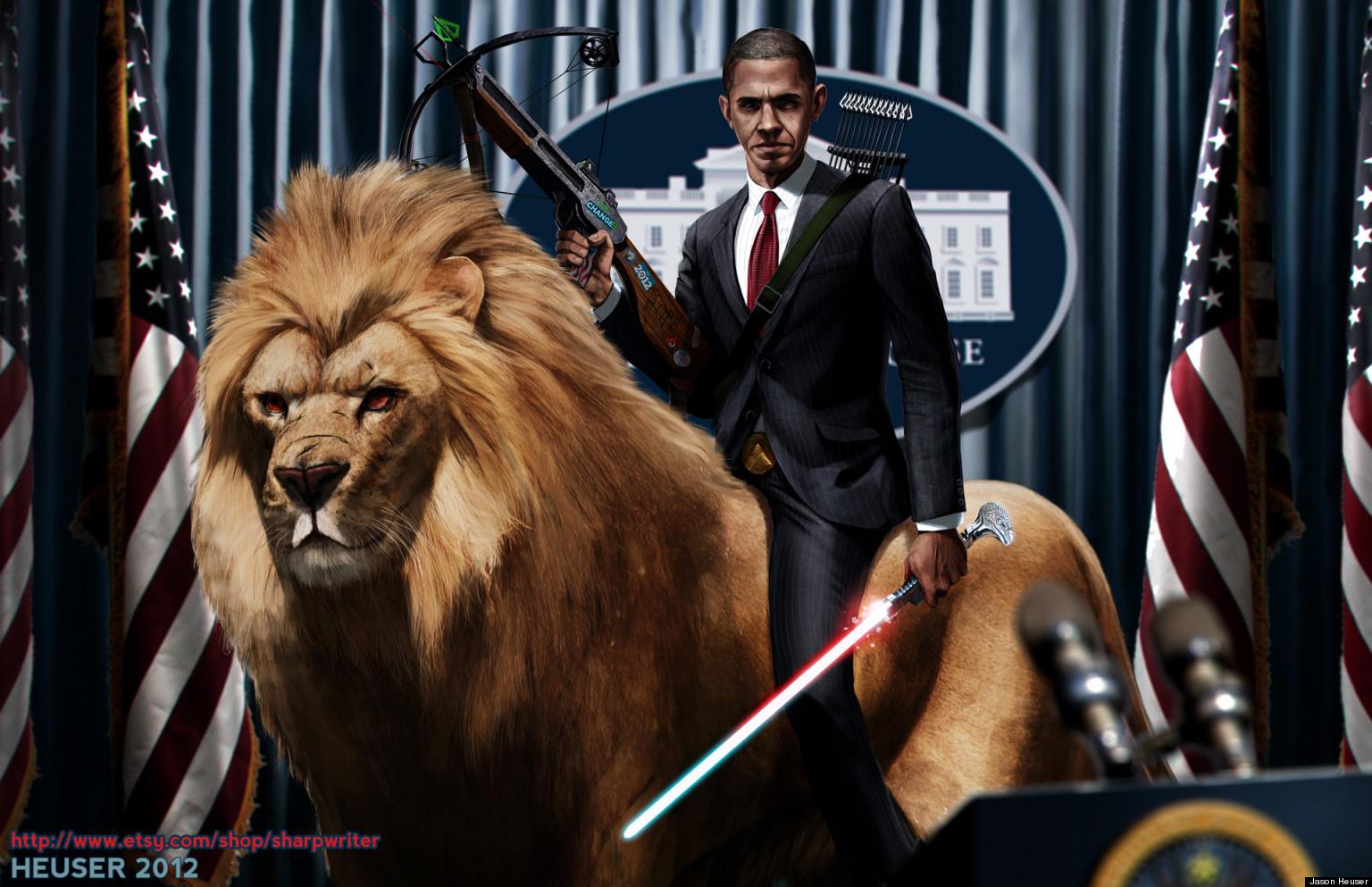 Beautiful Wallpaper Lion Facebook - o-OBAMA_RIDING_A_LION_BY_SHARPWRITERD5FTZE6-facebook  Image_477316.jpg