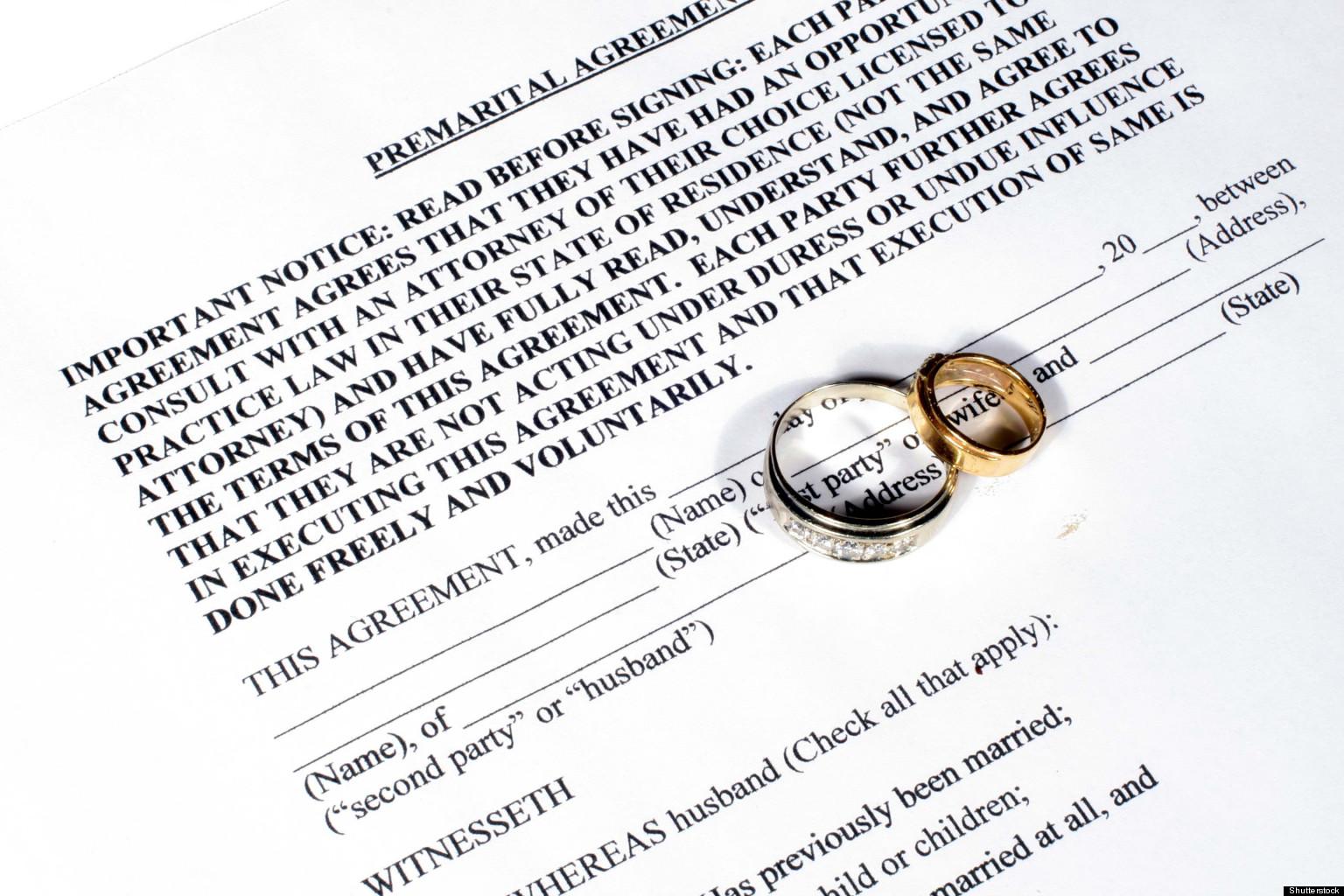 Prenuptial Agreements That Included Strange Demands – Prenuptial Agreement