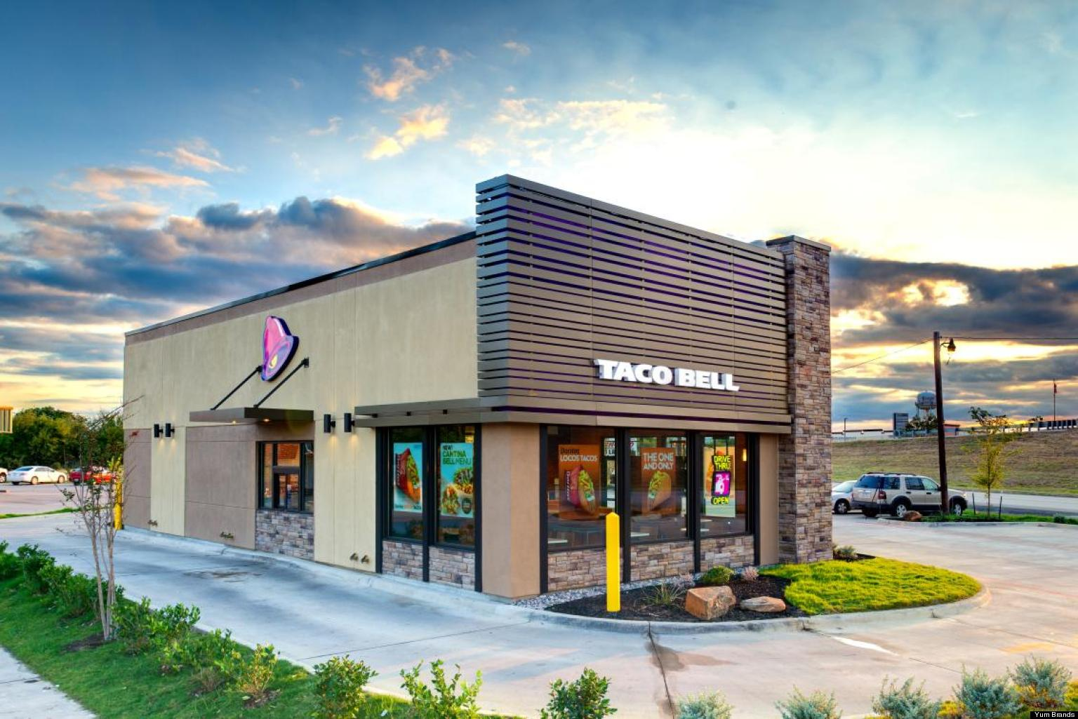 Fast Food Building Designs Unique Taco Bell Redesign To Cost Less To Build Make Exterior Glow . Design Inspiration