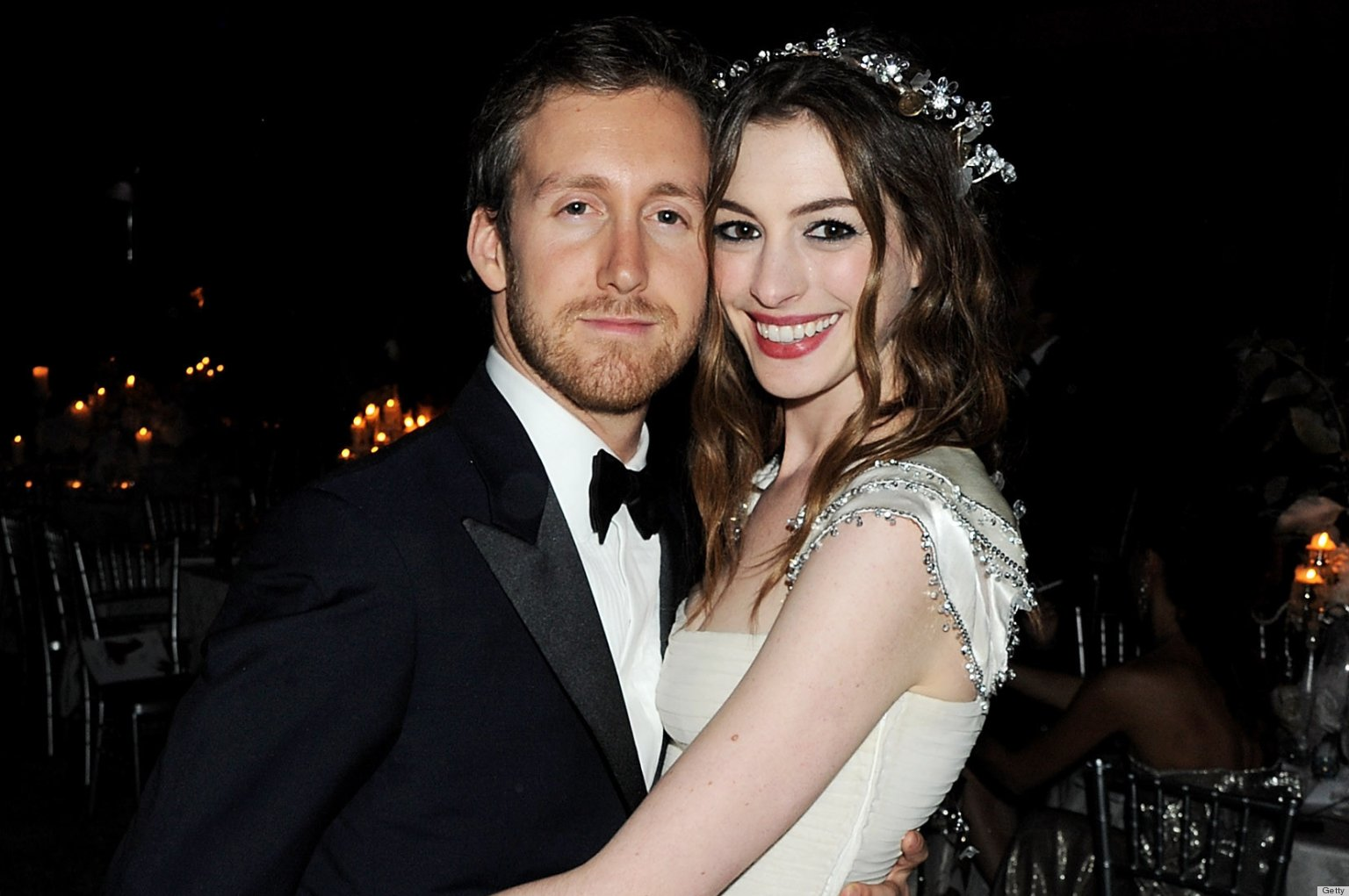 Anne Hathaway Wedding Dress: The Actress Weds In Gauzy