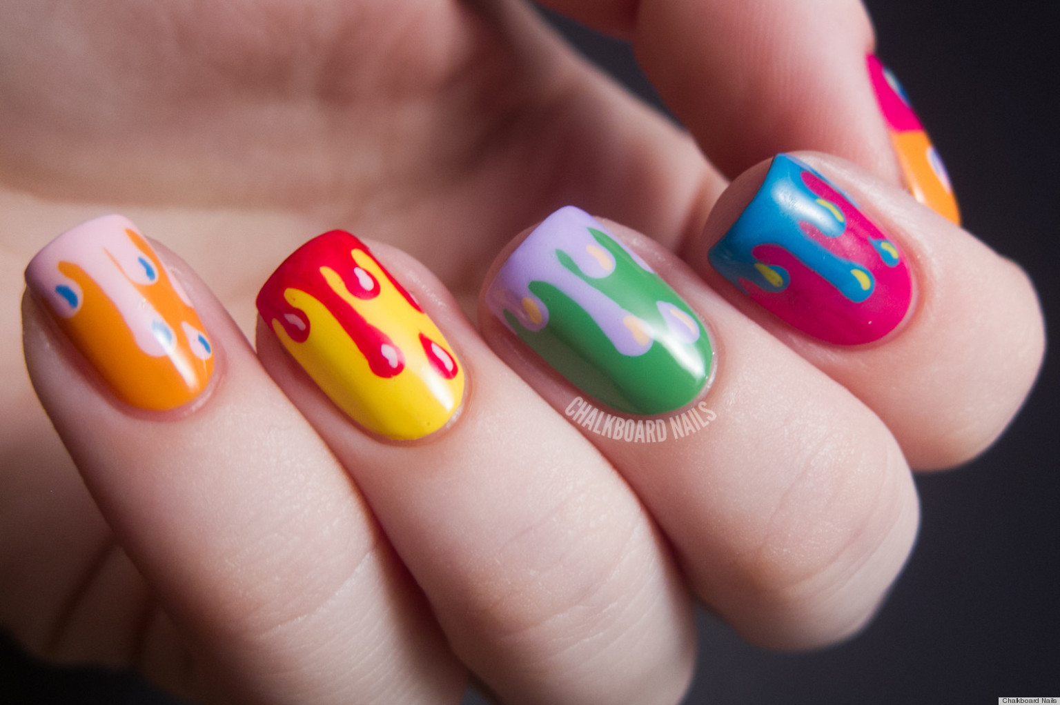 Diy nail ideas paint drip nail art and more of our manicures from diy nail ideas paint drip nail art and more of our manicures from this weekend photos huffpost prinsesfo Image collections