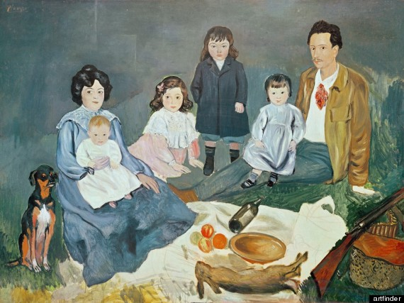 Picassos Painting Shows A Family At Breakfast