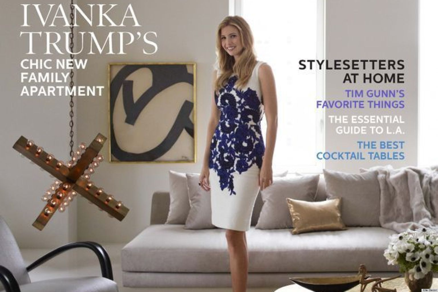 House Tour Ivanka Trump S Chic New York Apartment Featured In Elle Decor October 2017 Photos Huffpost