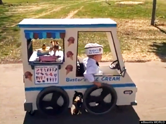 ice cream truck costume wheel chair
