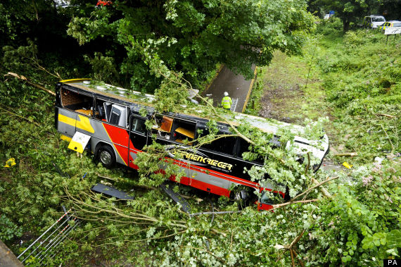 baroness bus crash