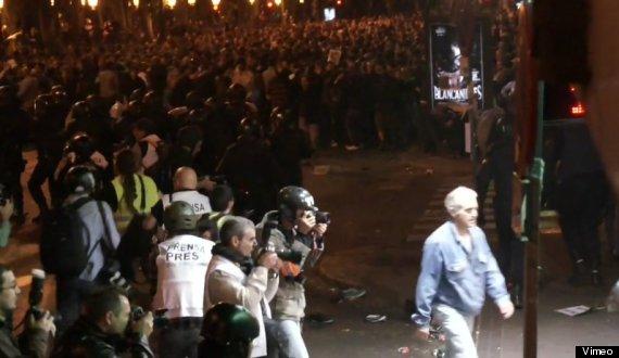 fotos cargas policiales madrid