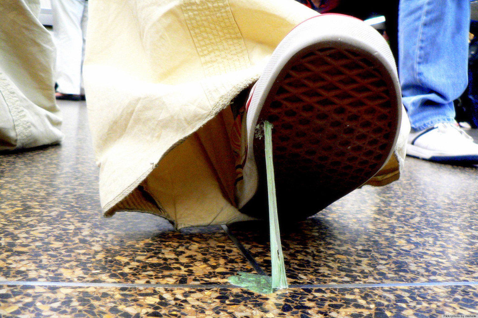 How to remove gum from shoes with peanut butter huffpost - Remove chewing gum clothes fabric ...