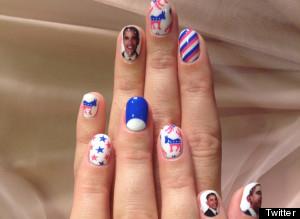 Las Unas De Katy Perry Manicura Para Pedir El Voto Por Obama Fotos - Uas-manicura