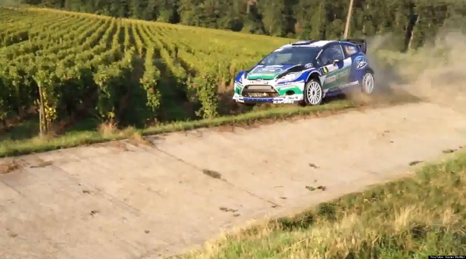 Race Car Crashes Into French Vineyard During Rallye De Drance (VIDEO ...