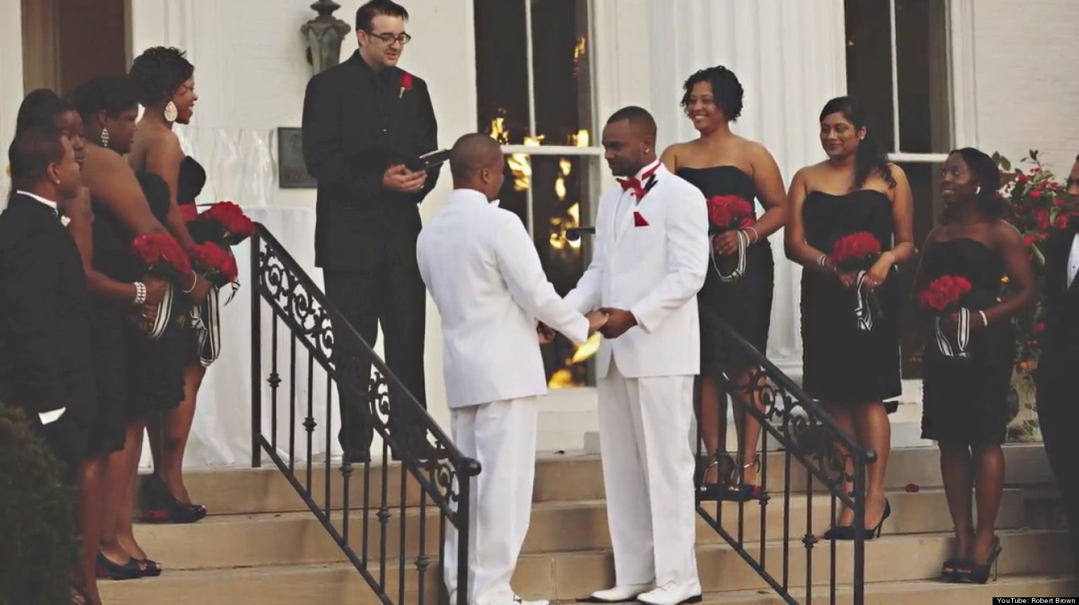 two men of kappa alpha psi fraternity marry each other