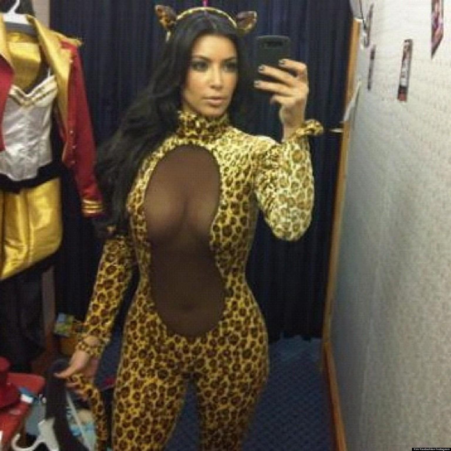 Kim Kardashianu0027s Sexy Halloween Costume Star Poses In See-Through Leopard Bodysuit (PHOTO) | HuffPost  sc 1 st  HuffPost & Kim Kardashianu0027s Sexy Halloween Costume: Star Poses In See-Through ...
