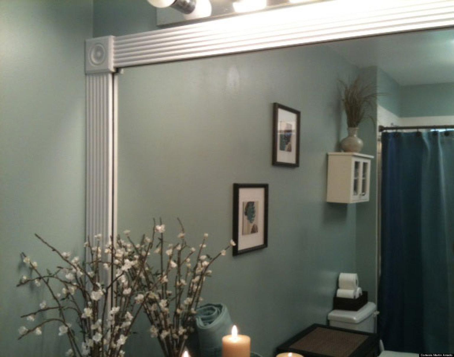 Transforma el espejo de tu baño en uno más elegante (VIDEO)   HuffPost
