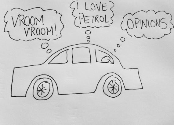 positive troll car