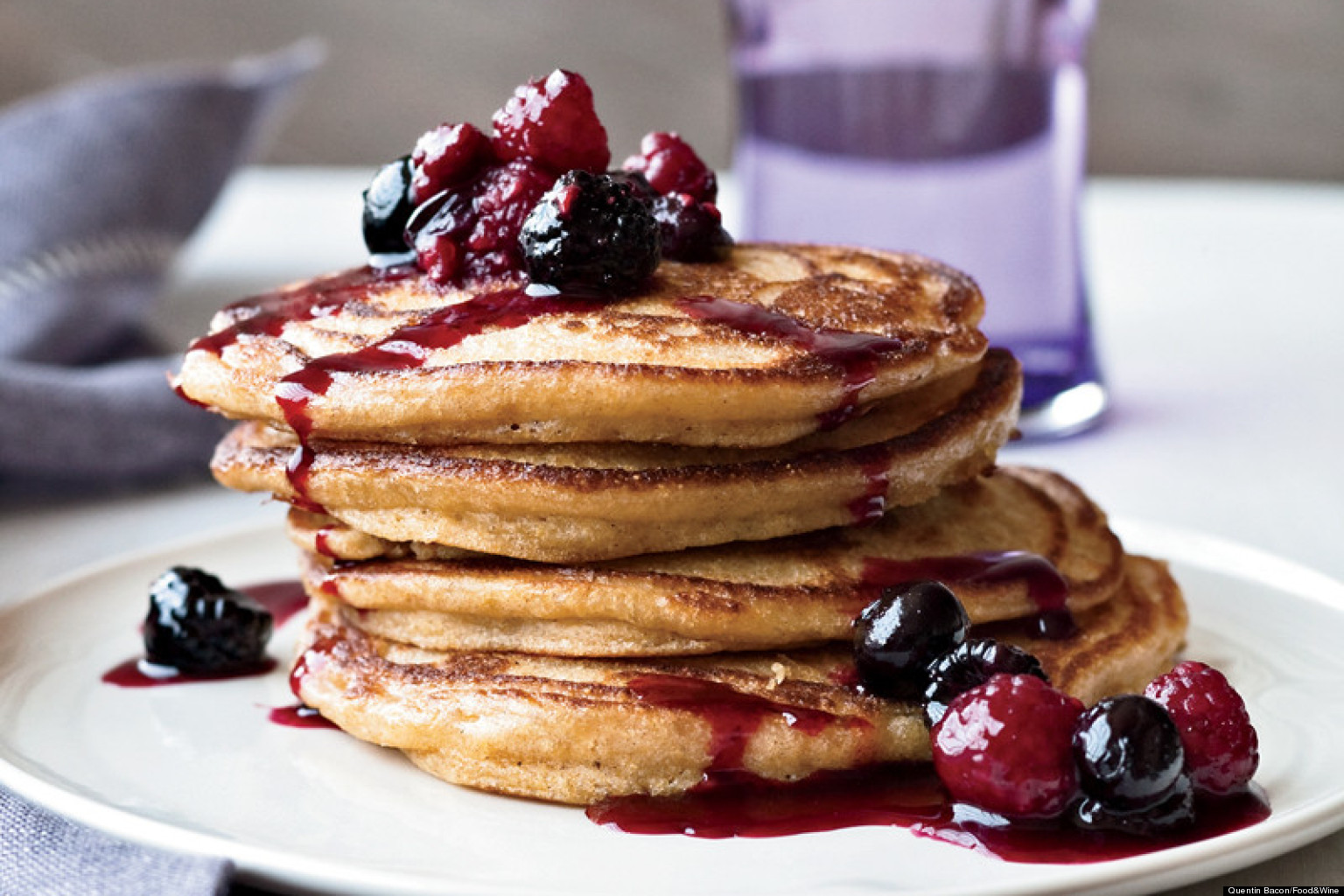 Recipe Of The Day: Cinnamon Polenta Pancakes | HuffPost