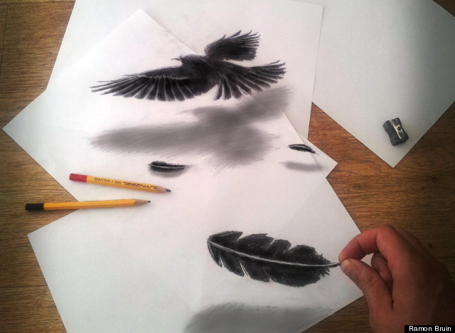 Ramon Bruin's Anamorphosic Drawings Add A Touch Of Gothic
