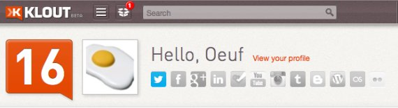 klout oeuf post