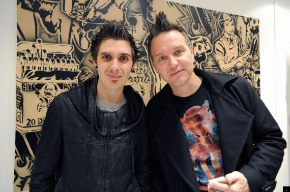 rich simmons with mark hoppus