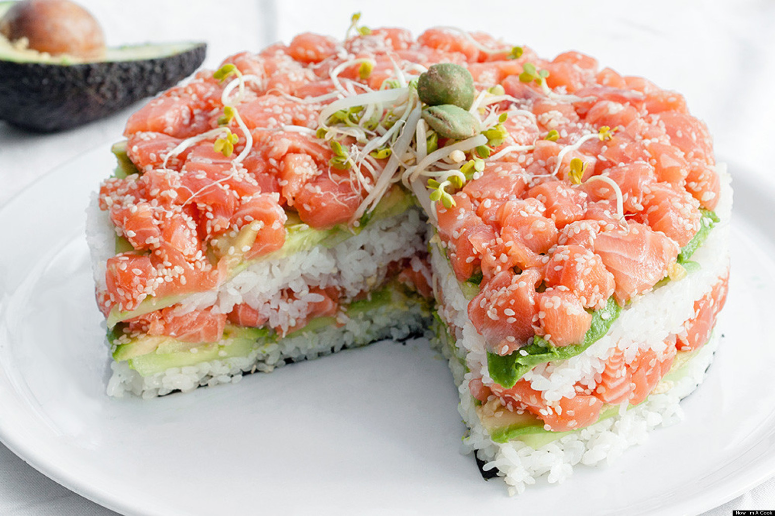 Image result for sushi cake