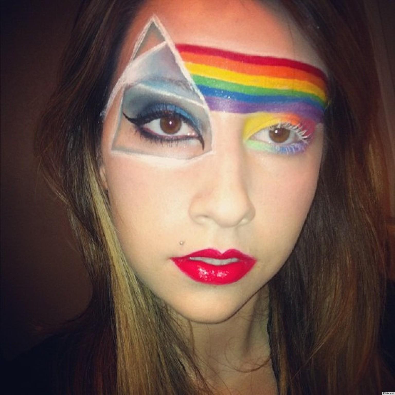 Как сделать радугу для фото на лице