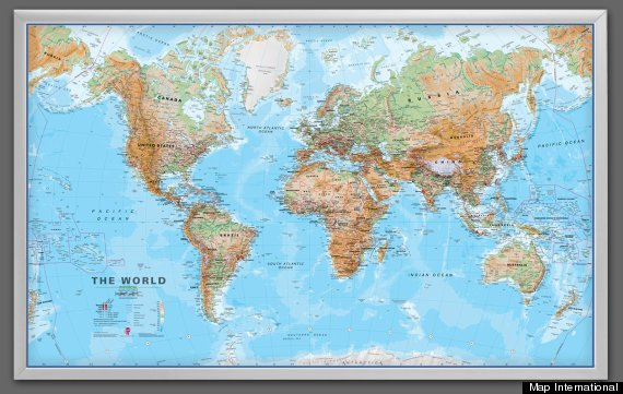 Win giant framed world map gumiabroncs Choice Image