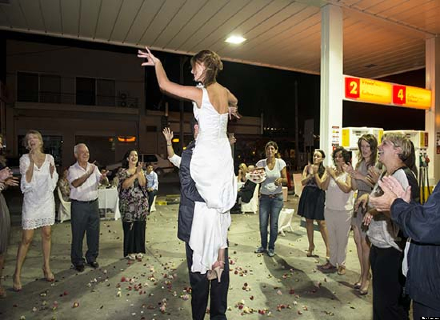 Unusual wedding venues greek couple holds reception at for Unique places to have a wedding