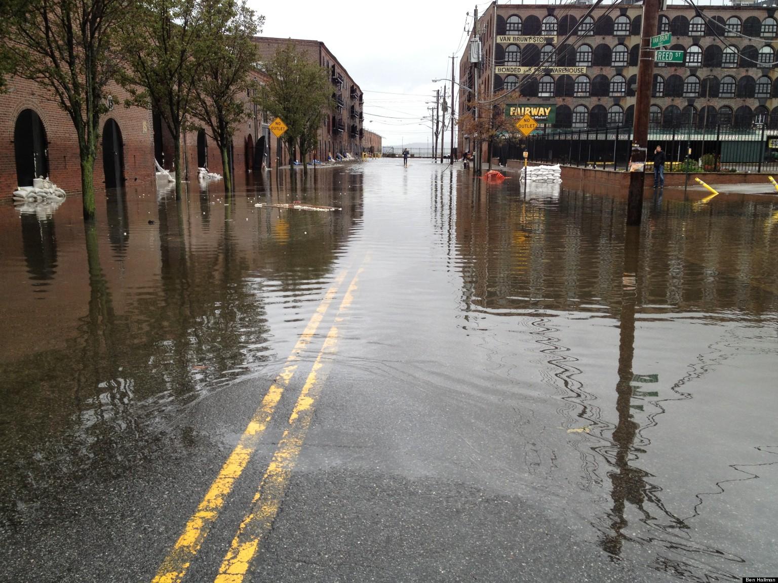 Red Hook Residents Survey Flood Damage Begin Cleanup