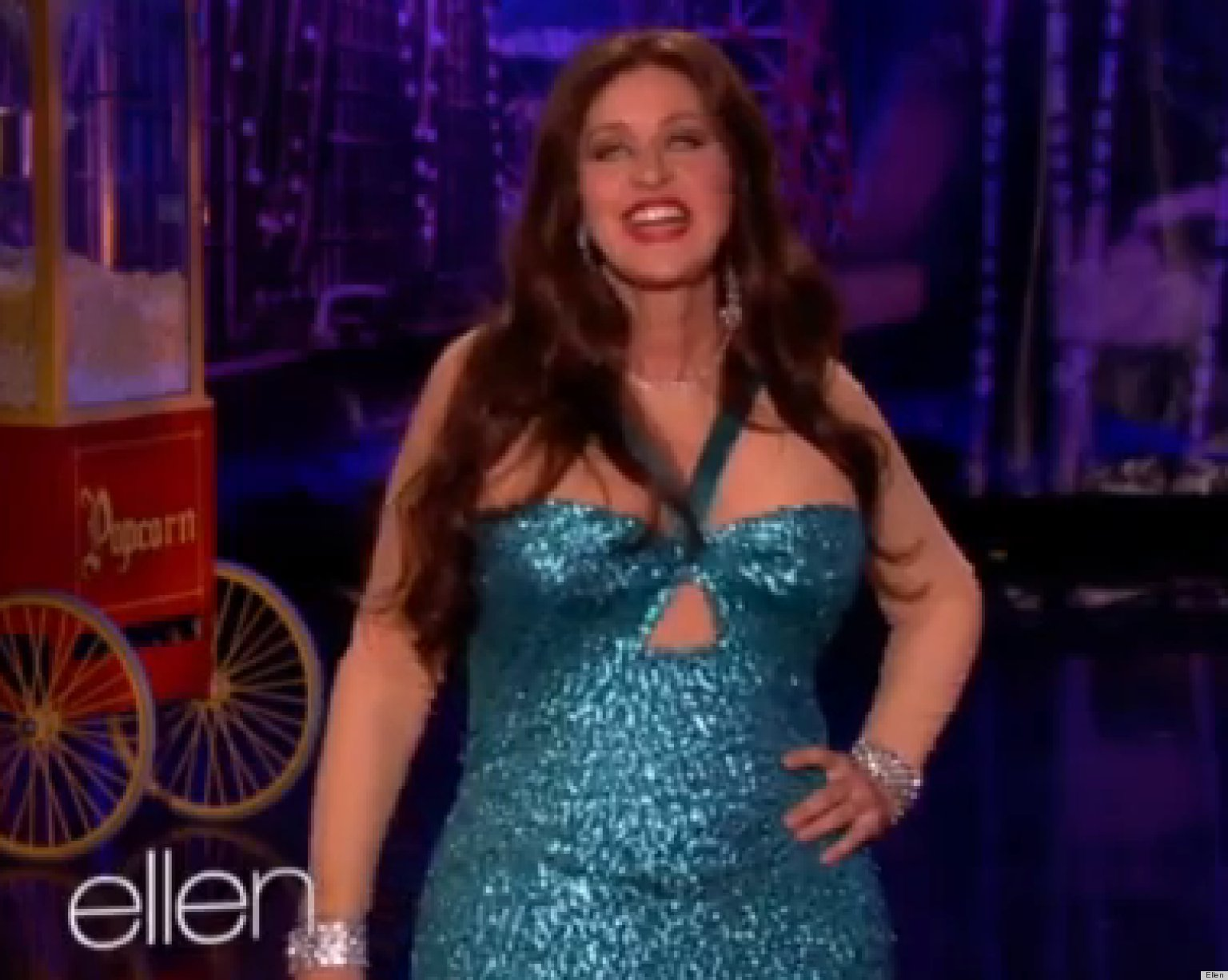 Ellen DeGeneres Dresses Up As Sofia Vergara's Wardrobe Malfunction ...