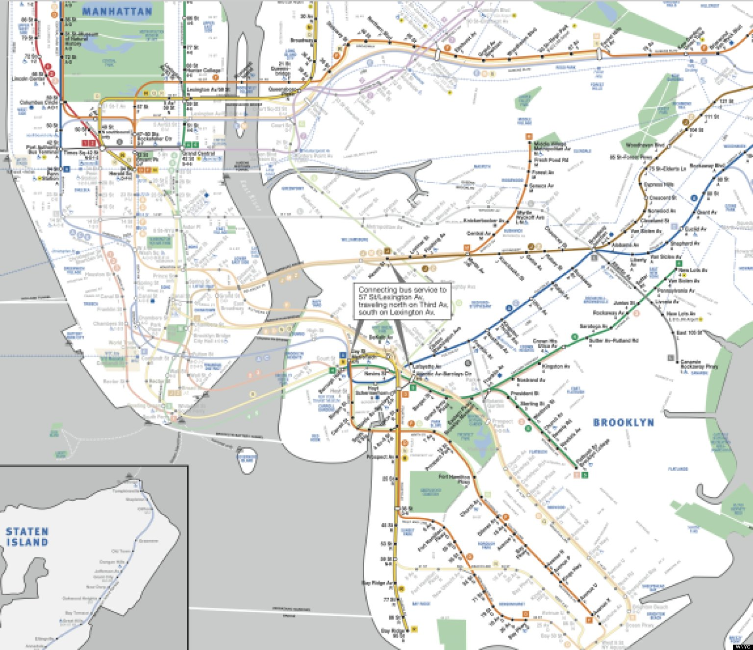 Nyc Subway Tunnel Map