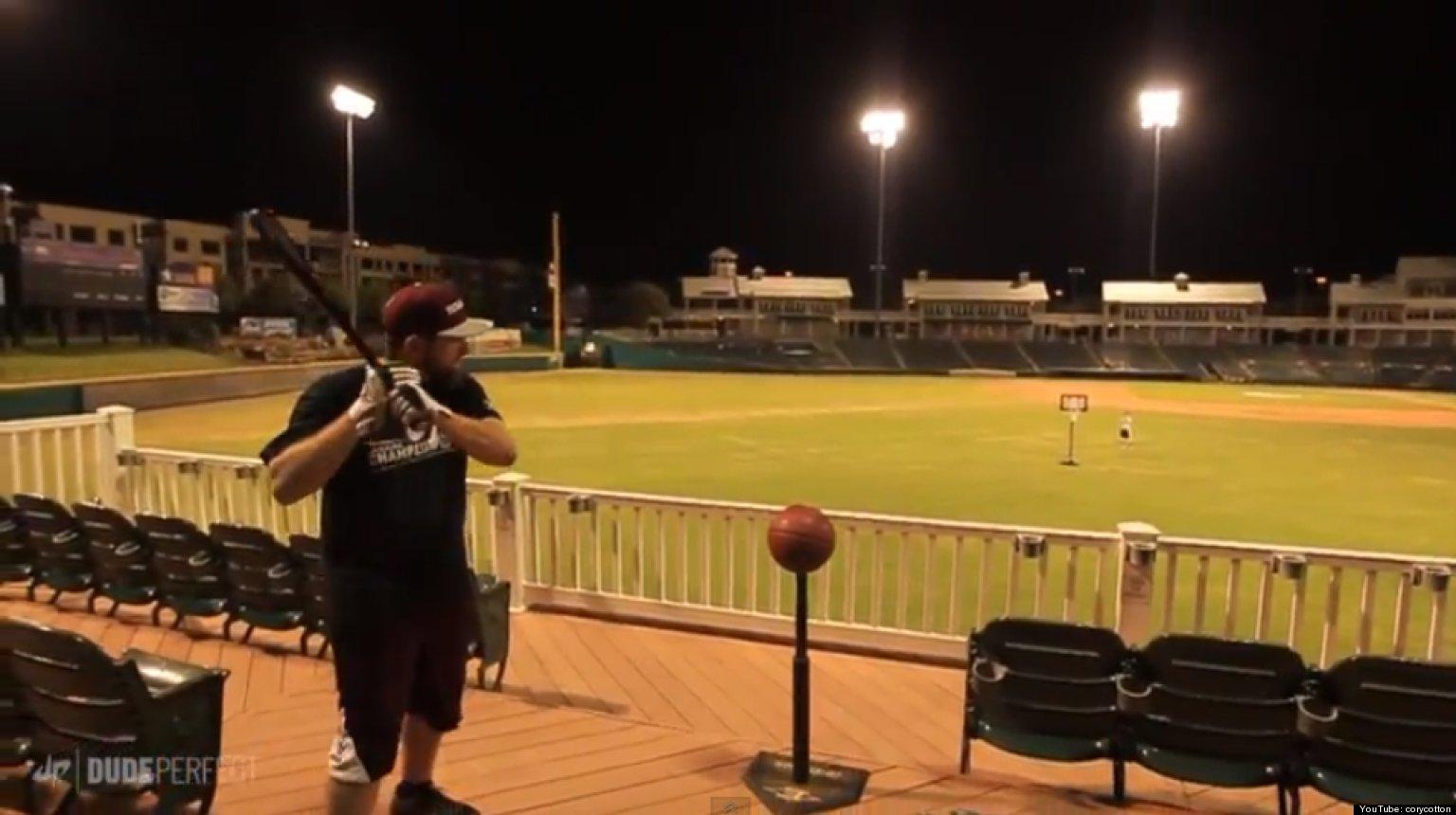 'Dude Perfect' Sinks Basketball Trick Shot Using A Baseball Bat Dubbed 'The Boom Stick' (VIDEO ...