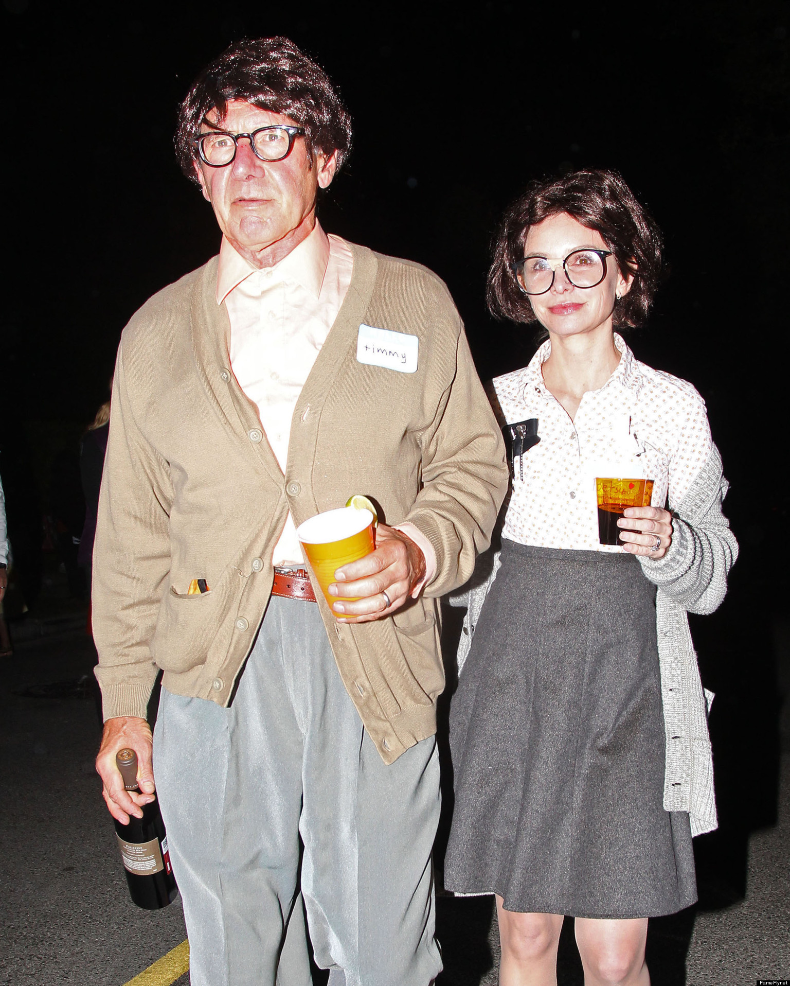 Harrison Ford Calista Flockhart Geek Out For Halloween