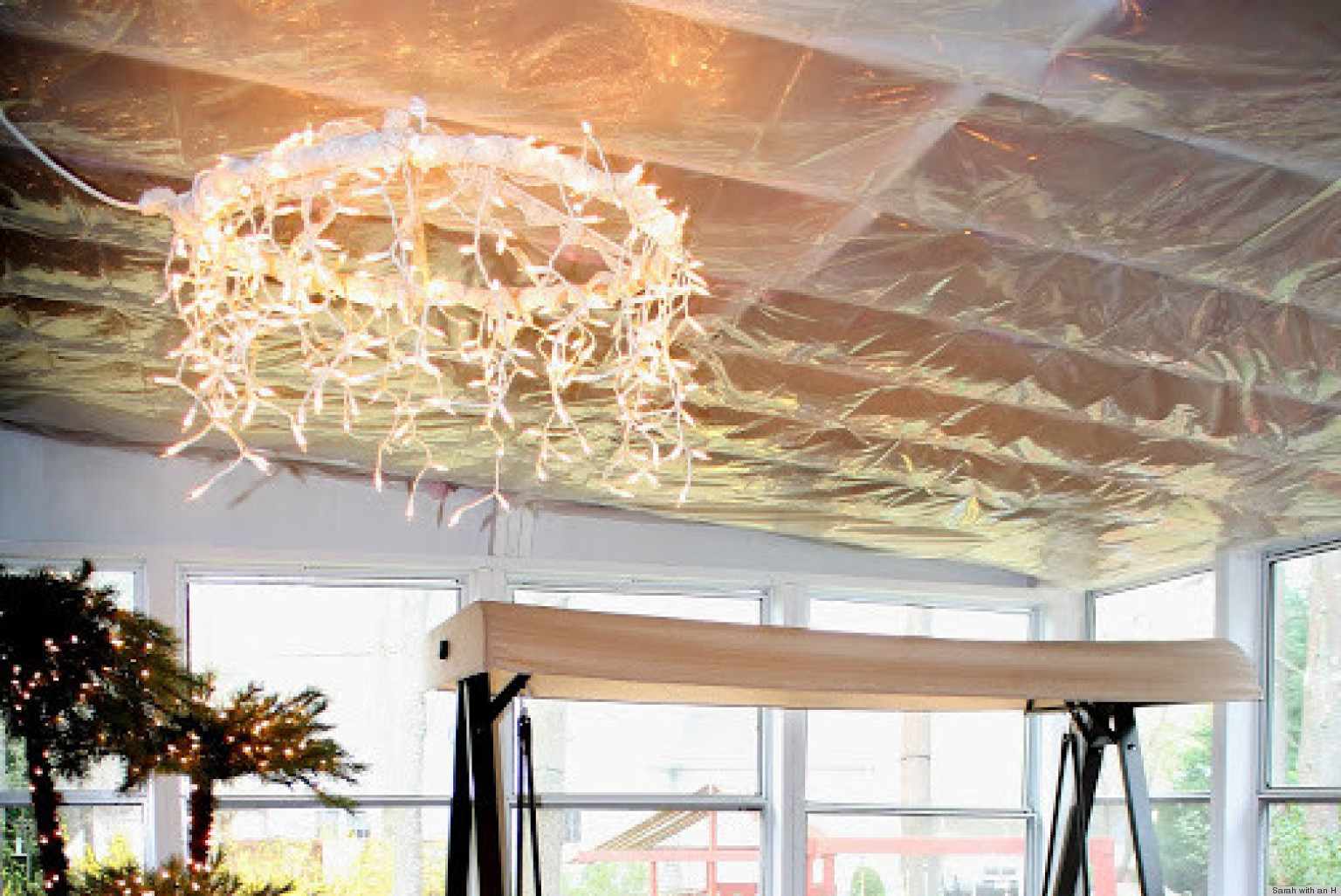 Hot on pinterest a hula hoop chandelier huffpost mozeypictures Image collections
