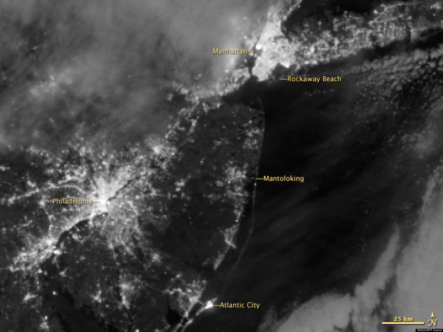 Sandy Blackouts From Space: PHOTOS Show Power Outages Across New