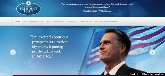 mitt romney transition website