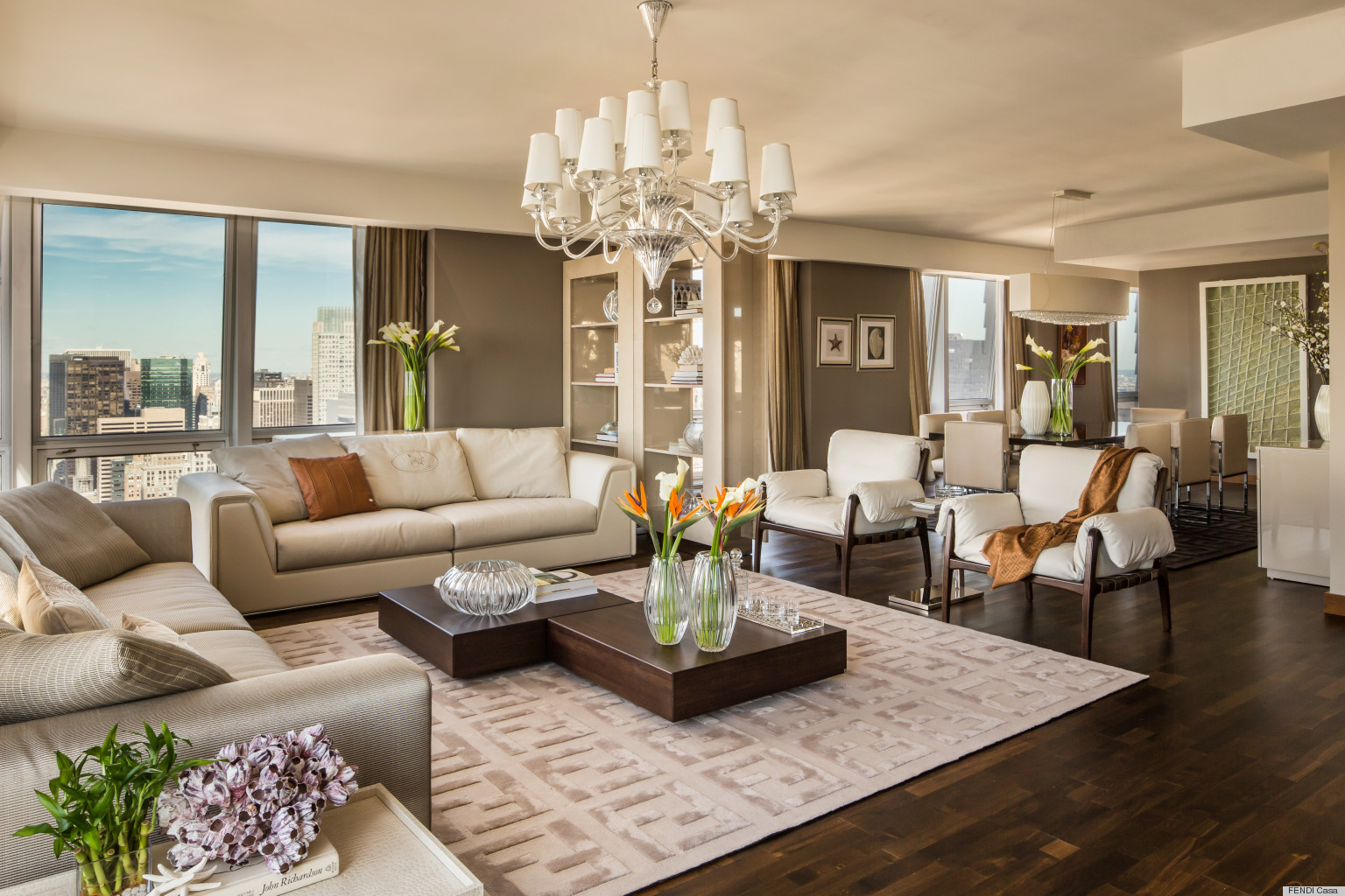 House tour fendi casa show home debuts at 400 fifth for Casa design