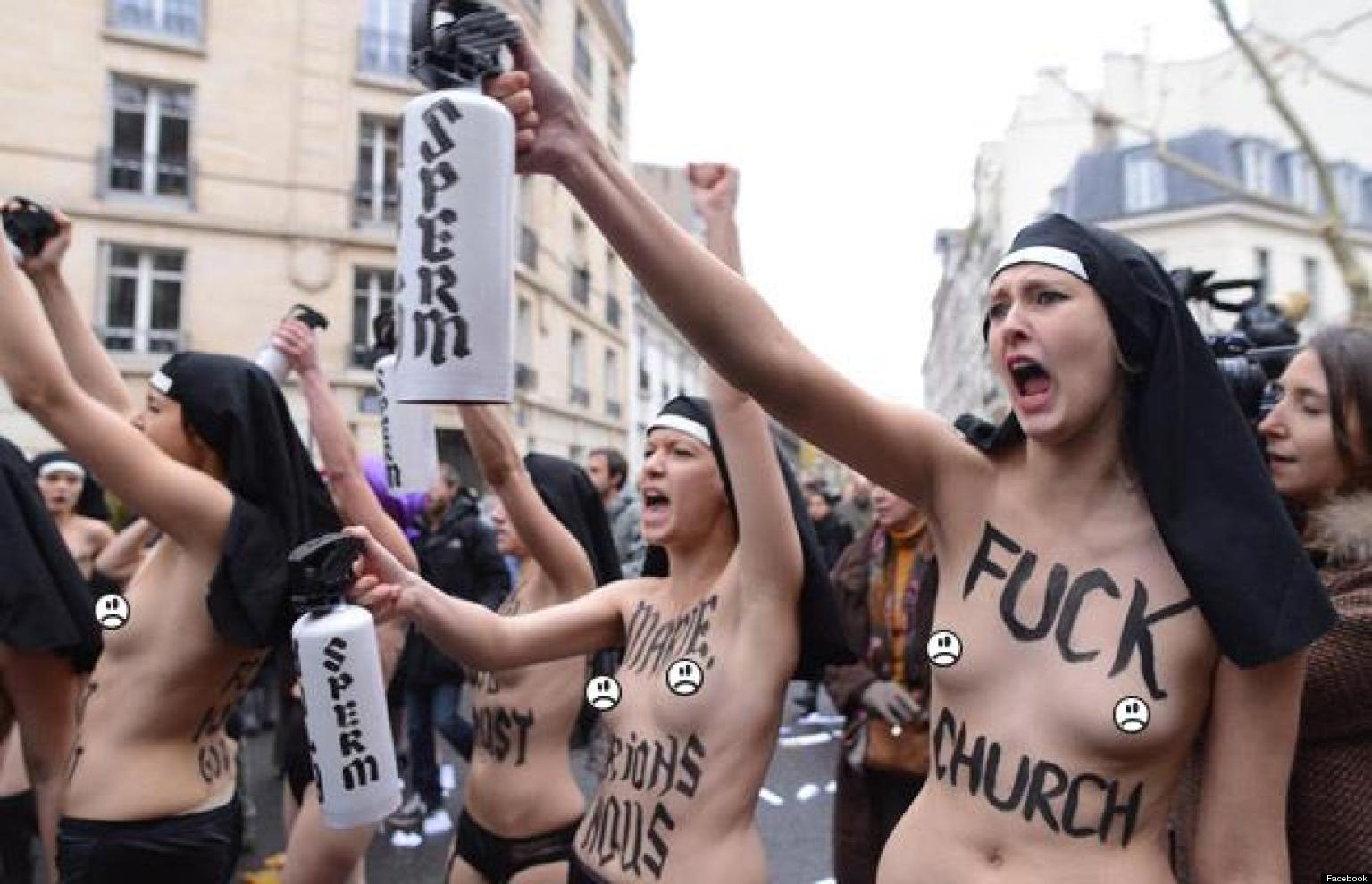 Topless 'Nuns' From Activist Group Femen Allegedly ...