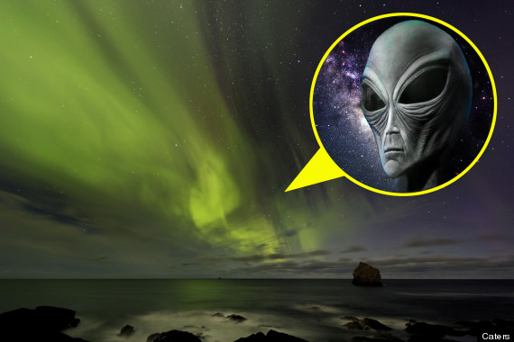 northern lights alien face