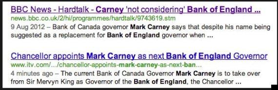 screen shot of google news