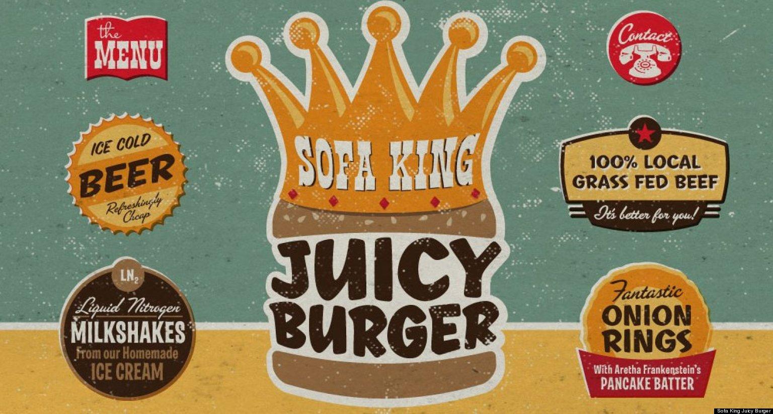 Sofa King Juicy Burger Restaurant In