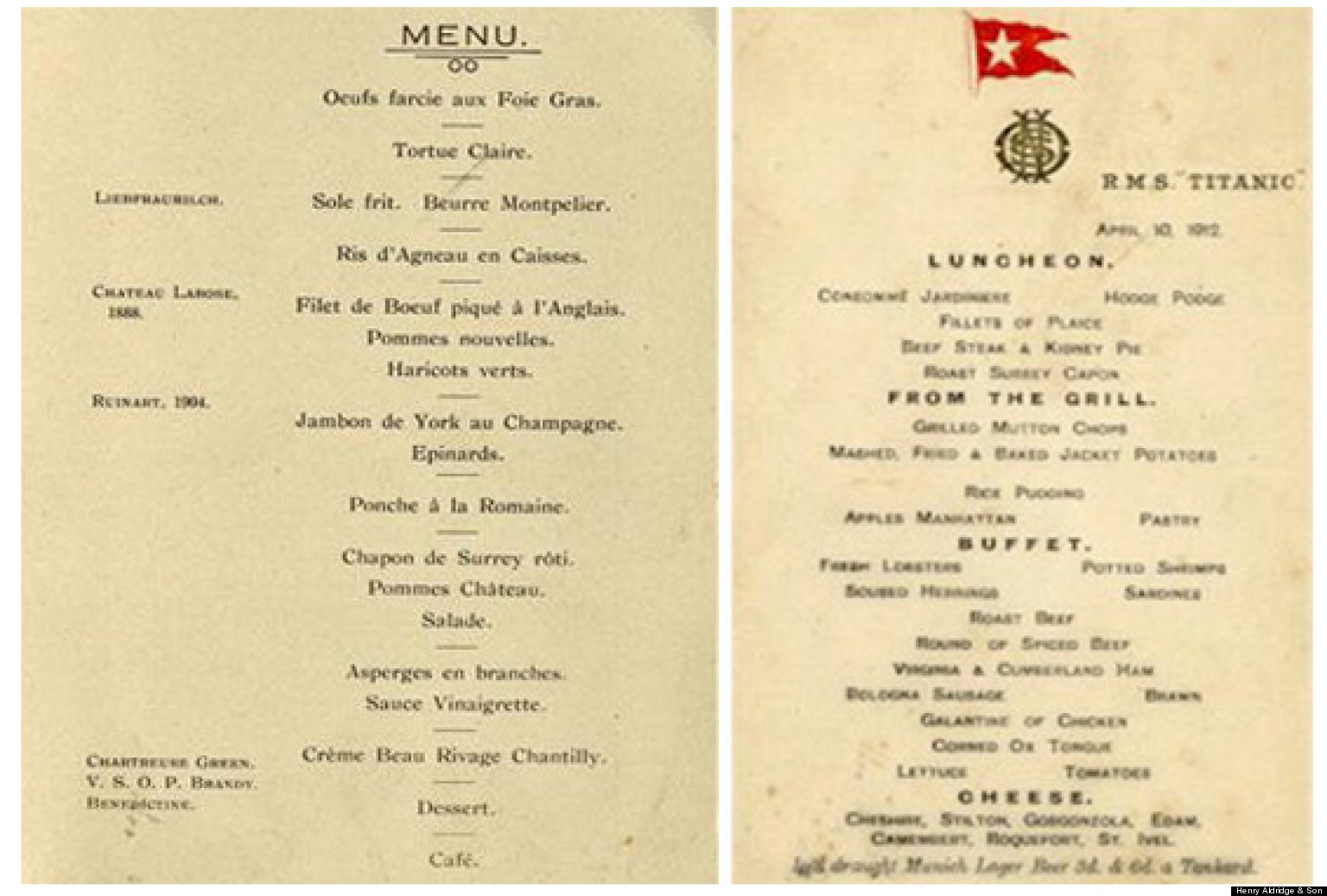 Rare Titanic Menus Auctioned For World Record Breaking
