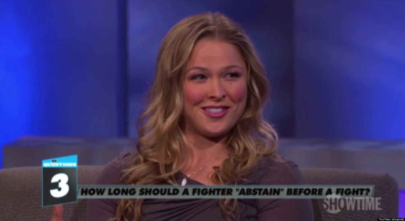 Ronda Rouseys Sex Strategy I Try To Have As Much Sex As Possible Before I Fight Huffpost