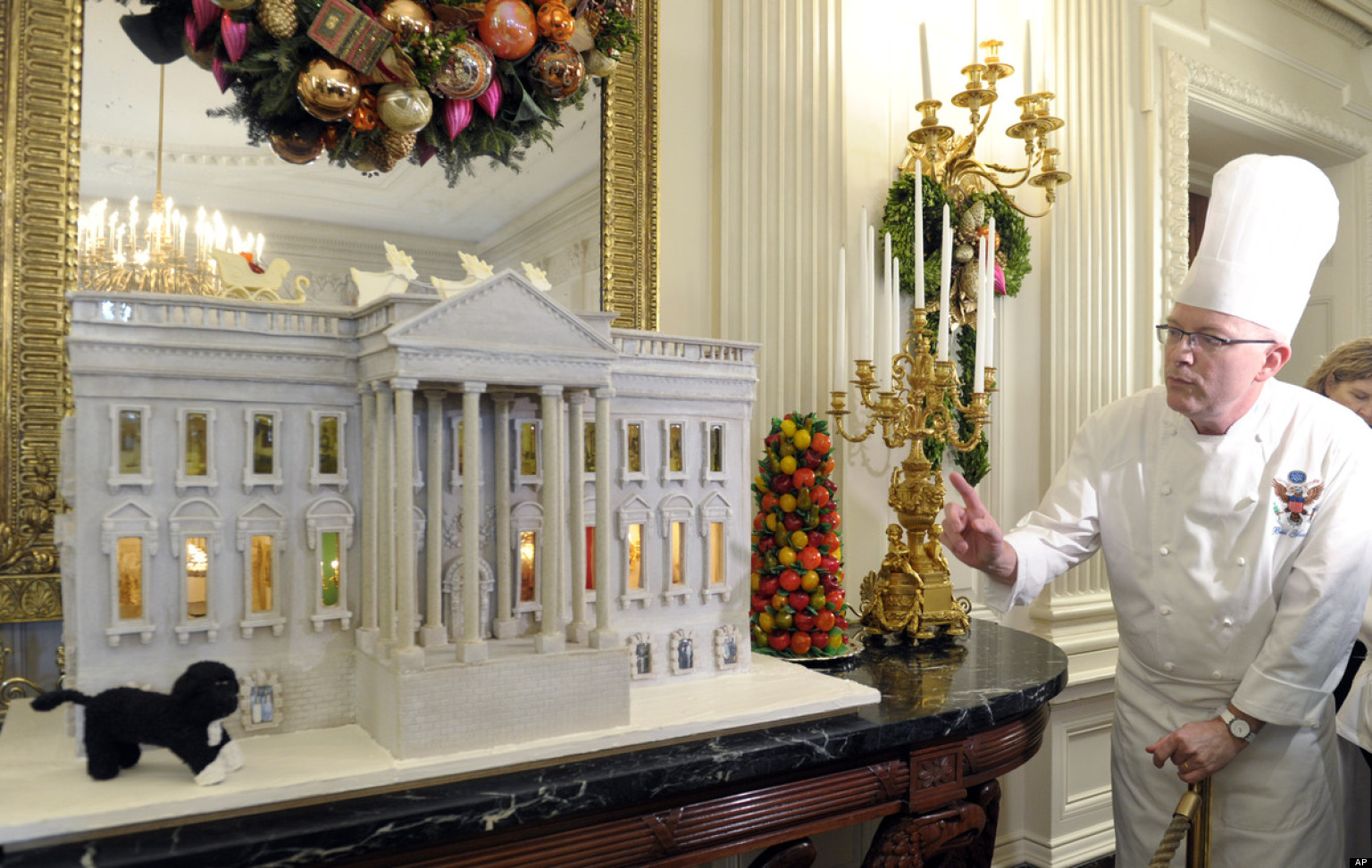 White House Gingerbread House 2012 300 Pound Creation
