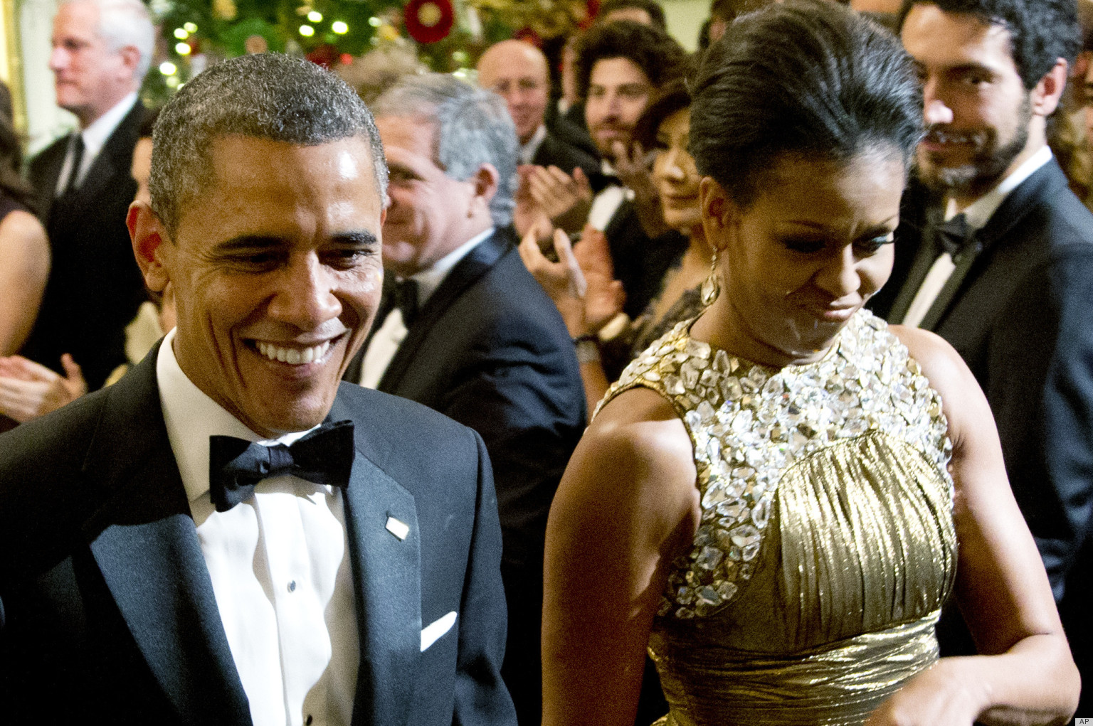 56dfe83a84 Michelle Obama Glows At 2012 Kennedy Center Honors In Michael Kors (PHOTOS)  | HuffPost