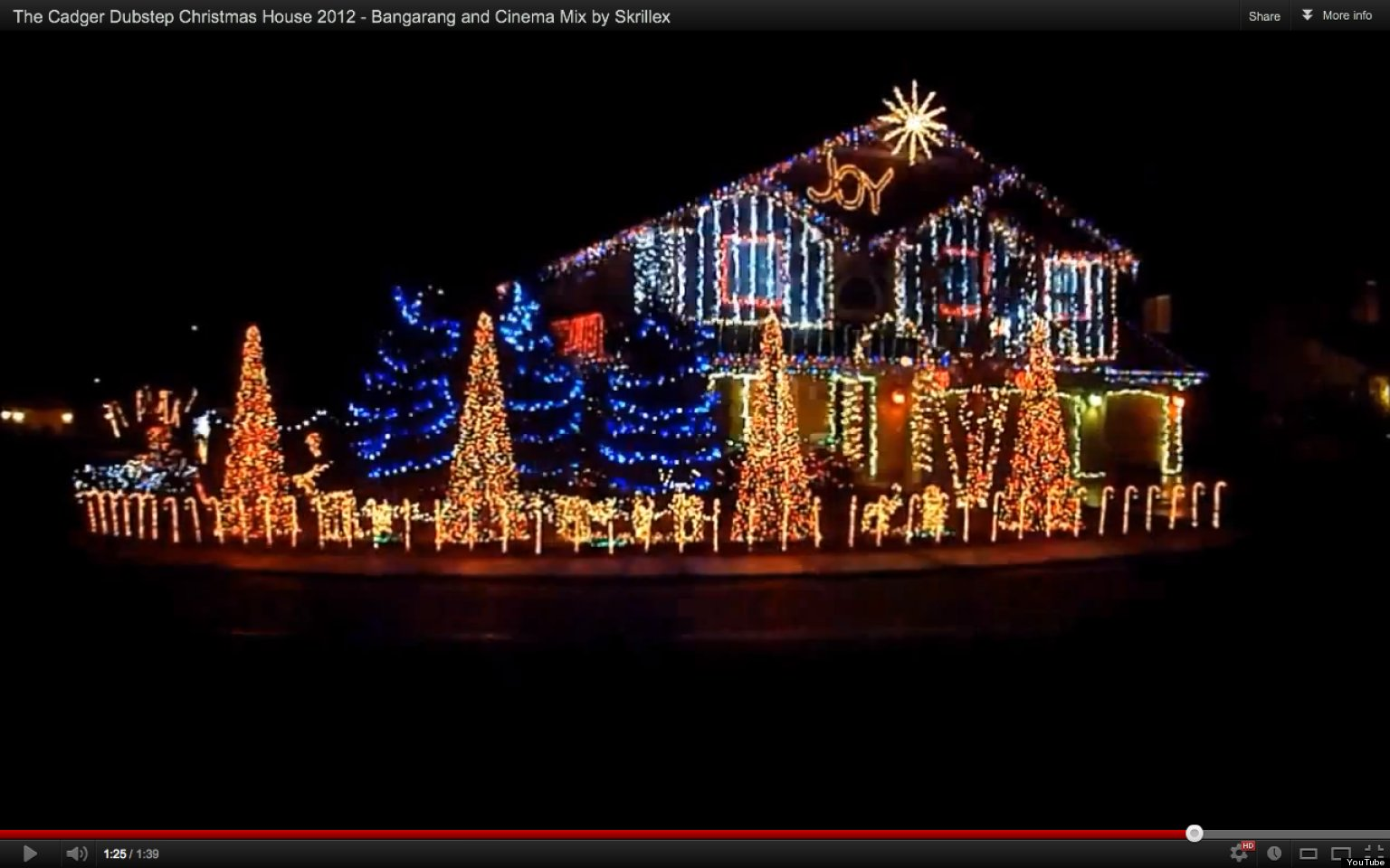 Dubstep Christmas Light Show At Cadger Family Home Sets 40,000 Lights To  Skrillex (VIDEO) | HuffPost