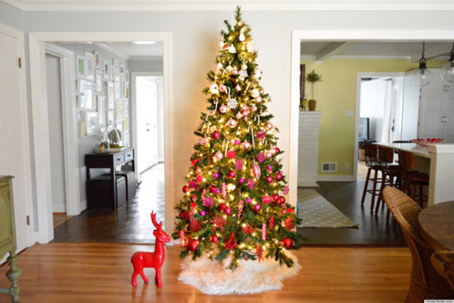 christmas tree decorating ideas an ombre design from young house