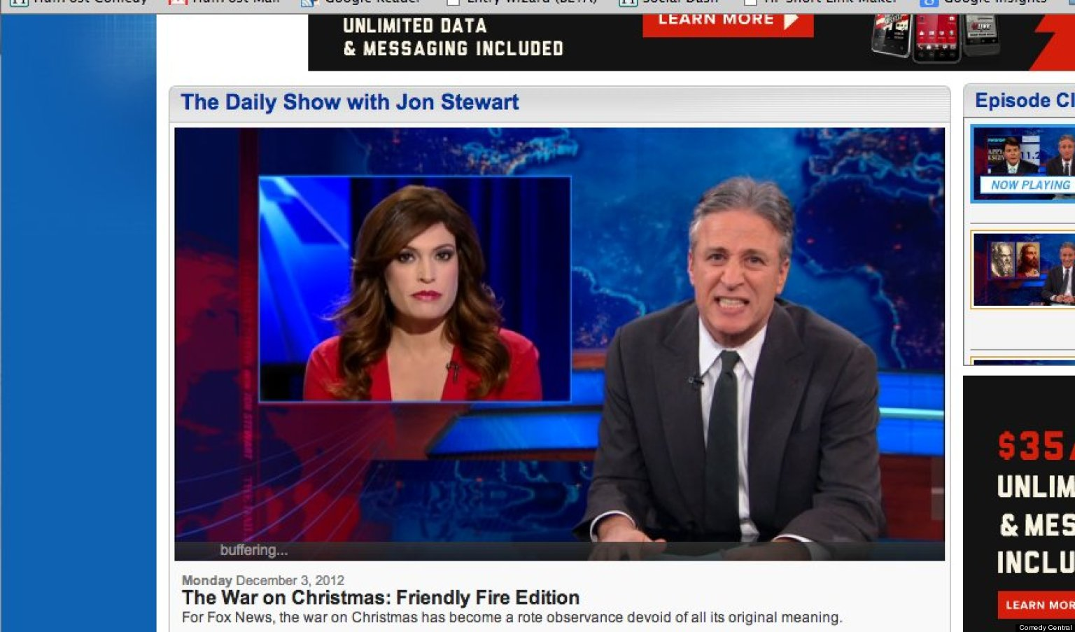 Jon Stewart Rips Fox News' Annual 'War On Christmas' Coverage Once ...