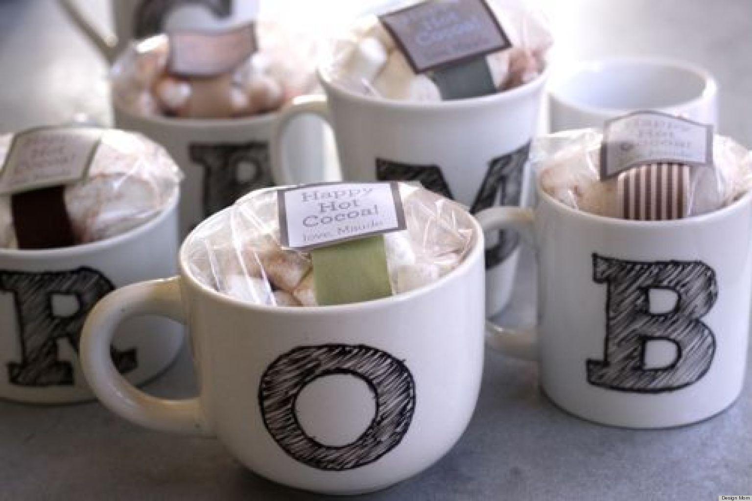 Homemade gift ideas monogrammed mugs huffpost negle Images