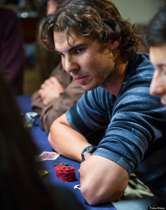 nadal playing poker against fans at the pokerstars
