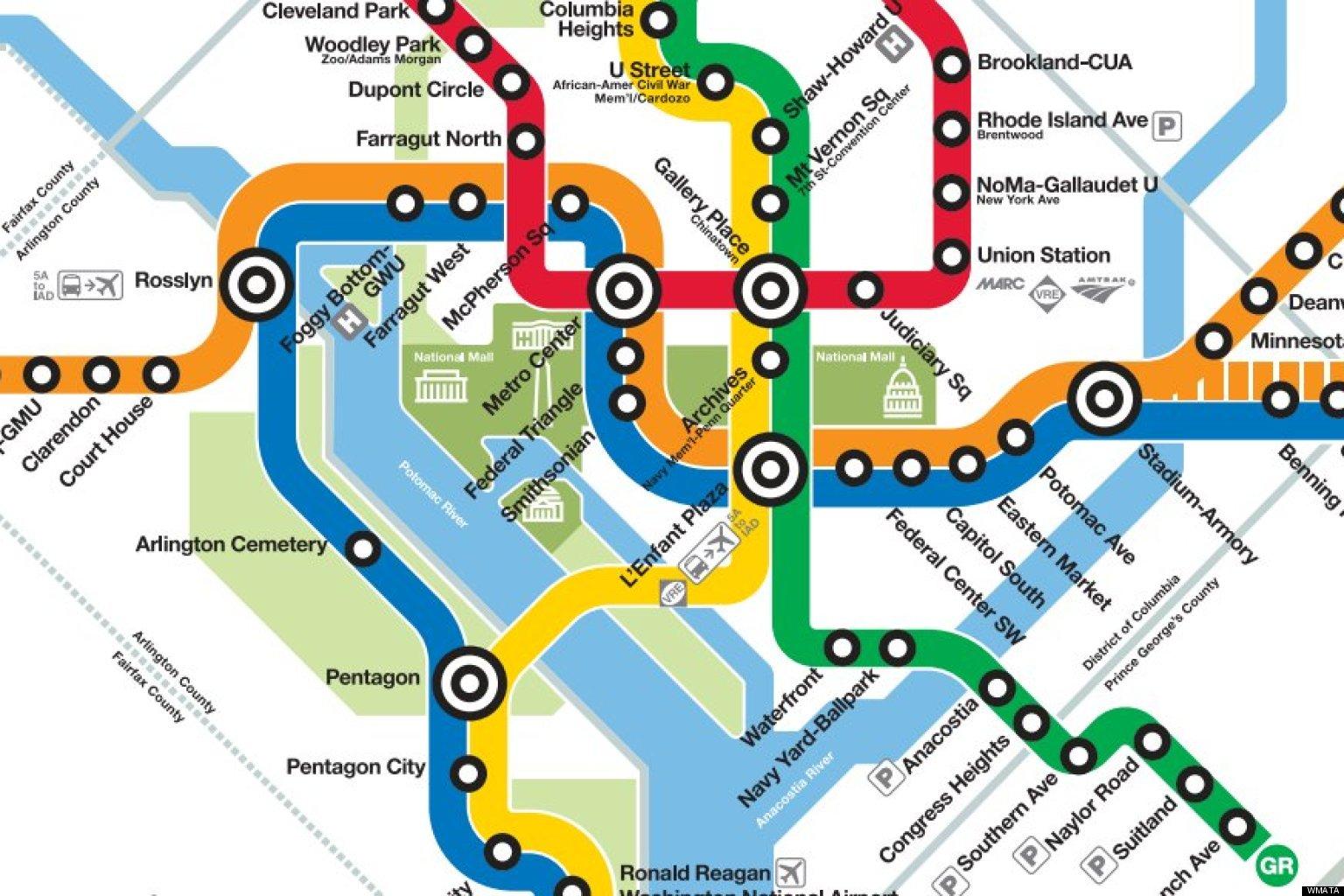 D C Metro Transit Map Creativehobby Store